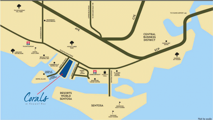 吉宝湾丽珊景位置图 Corals At Keppel Bay Location Map