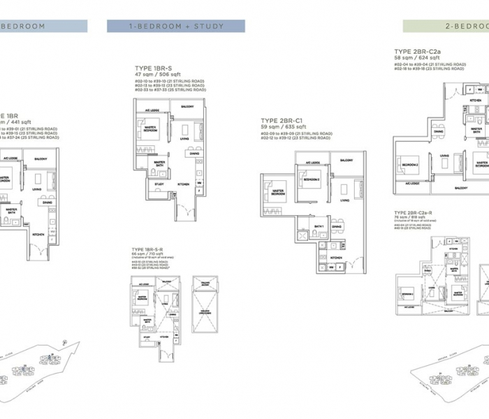 Stirling Residences 平面图 Stirling Residences Floor Plan
