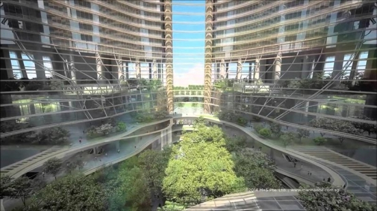 滨海盛景豪苑艺术家印象 Marina One Residences Artist Impression