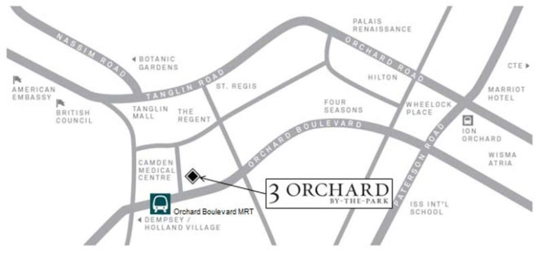 3 Orchard By The Park 位置图
